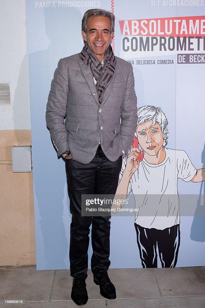 Actor Imanol Arias attends 'Absolutamente Comprometidos' premiere at Teatro del Arte de Madrid on December 22, 2012 in Madrid, Spain.