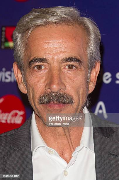 Actor Imanol Arias attends 'Cuentame como paso' photocall at Matadero Madrid on November 23 2015 in Madrid Spain