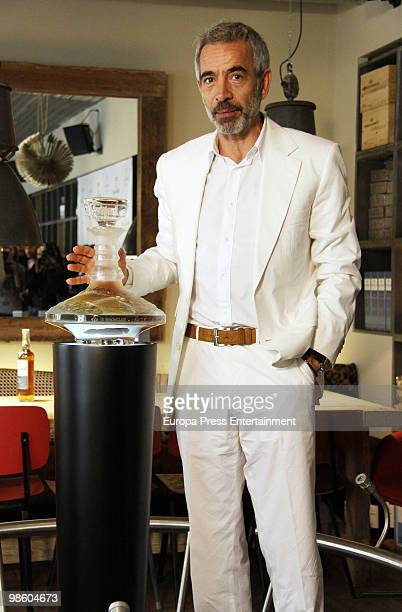 Actor Imanol Arias launches a limited edition of a Scotch whisky on April 22 2010 in Madrid Spain