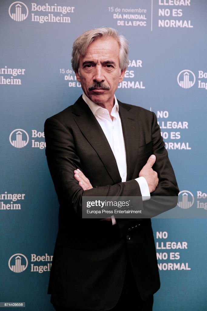 Actor Imanol Arias presents the 'EPOC Disease's Campaign' at El Paracaidista space on November 14, 2017 in Madrid, Spain.