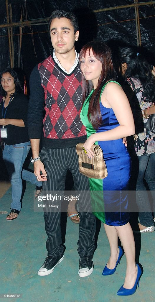 Actor <a gi-track='captionPersonalityLinkClicked' href=/galleries/search?phrase=Imran+Khan+-+Actor&family=editorial&specificpeople=13488791 ng-click='$event.stopPropagation()'>Imran Khan</a> with girlfriend Avantika during designer Manish Malhotra's fashion show at the third day of the HDIL India Couture Week in Mumbai on Wednesday, October 14, 2009.