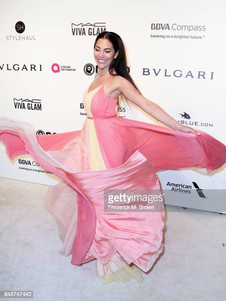Actor Inbar Lavi attends the 25th Annual Elton John AIDS Foundation's Academy Awards Viewing Party at The City of West Hollywood Park on February 26...