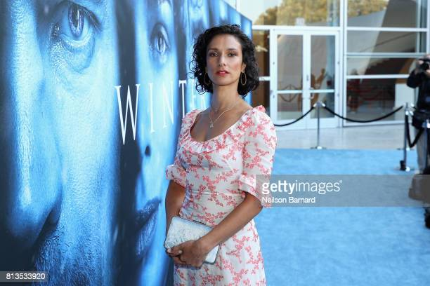 Actor Indira Varma attends the premiere of HBO's 'Game Of Thrones' season 7 at Walt Disney Concert Hall on July 12 2017 in Los Angeles California
