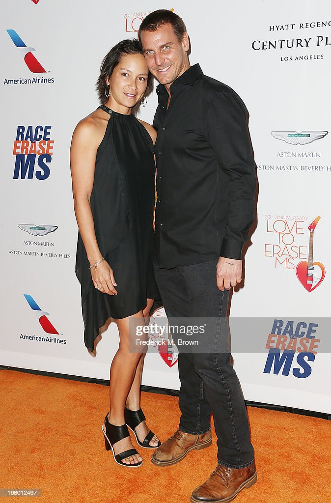 Actor Ingo Rademacher (R) and his guest attend the 20th Annual Race to Erase MS Gala 'Love to Erase MS' at the Hyatt Regency Century Plaza on May 3, 2013 in Century City, California.