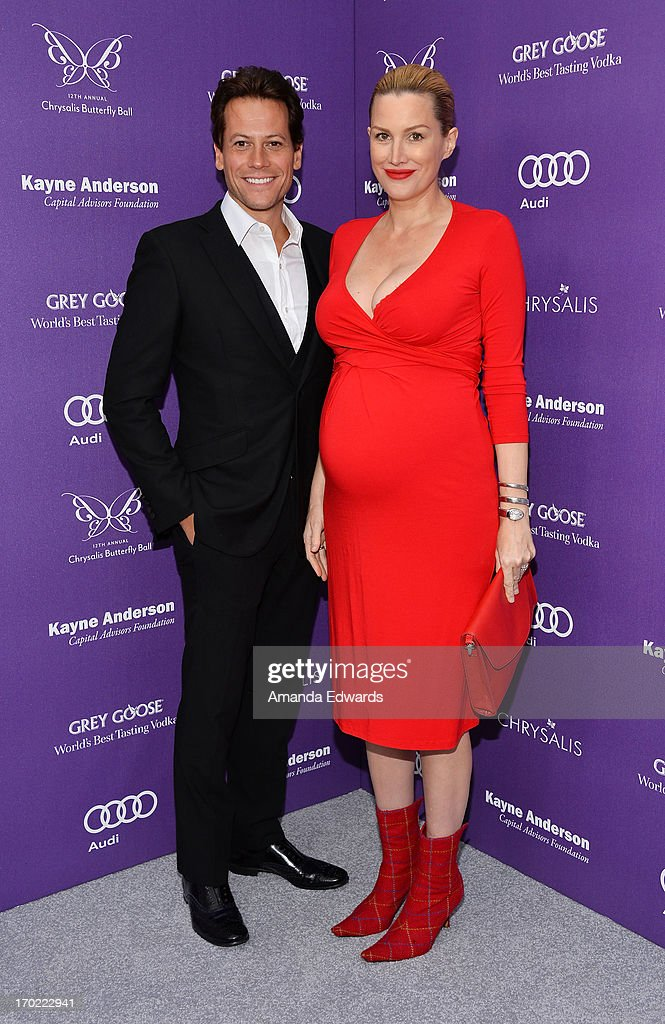 Actor Ioan Gruffudd (L) and actress Alice Evans arrive at the 12th Annual Chrysalis Butterfly Ball on June 8, 2013 in Los Angeles, California.