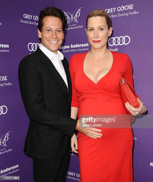 Actor Ioan Gruffudd and actress Alice Evans attend the 12th annual Chrysalis Butterfly Ball on June 8 2013 in Los Angeles California