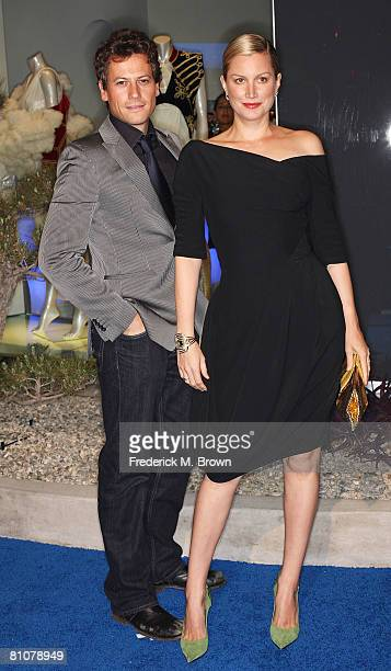 Actor Ioan Gruffudd and actress Alice Evans attend the launch of Alexander McQueen's Flagship Boutique on May 13 2008 in Los Angeles California