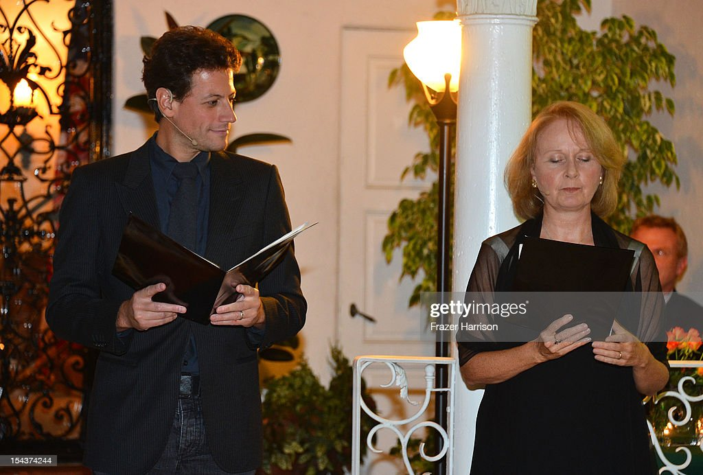 Actor Ioan Gruffudd and Katie Burton attend Wales Celebrates the launch of 'The Richard Burton Diaries' hosted by The Welsh Government, Swansea University and Yale University Press held at the British Consul-General residence, Hancock Park on October 18, 2012 in Los Angeles, California.