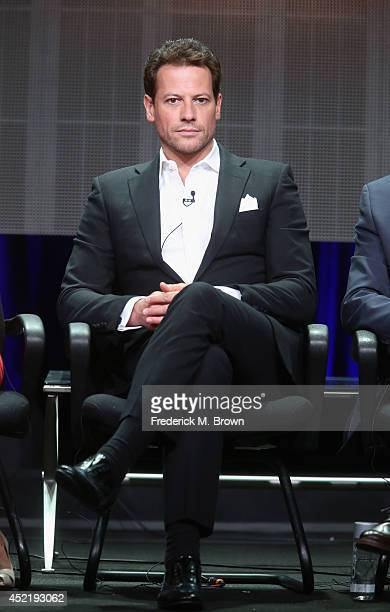 Actor Ioan Gruffudd speaks onstage at the 'Forever'' panel during the Disney/ABC Television Group portion of the 2014 Summer Television Critics...