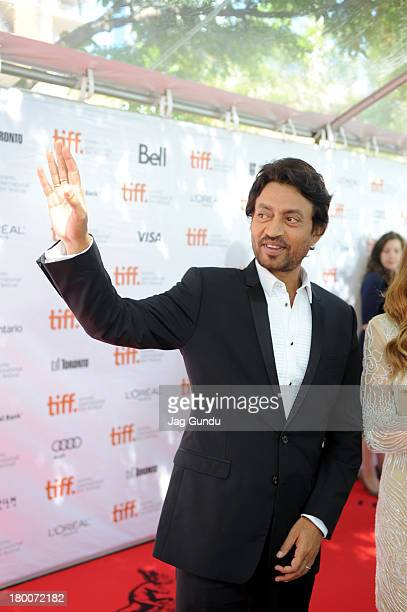 Actor Irrfan Khan arrives at the 'The Lunchbox' Premiere during the 2013 Toronto International Film Festival at Roy Thomson Hall on September 8 2013...