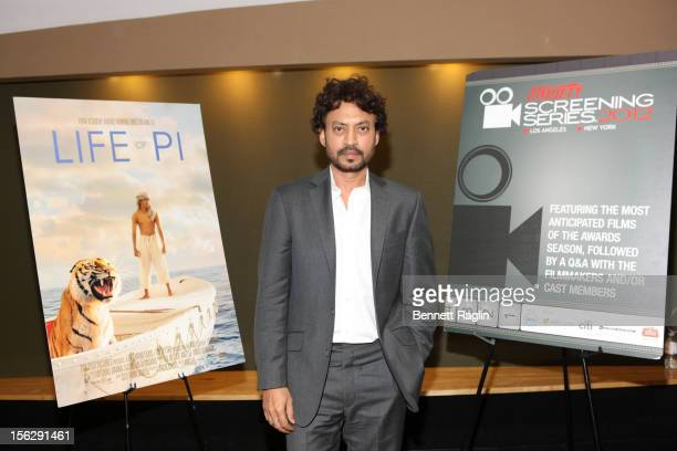 Actor Irrfan Khan attends 'Life Of Pi' during the 2012 Variety Screening Series at AMC Empire 25 theater on November 12 2012 in New York City