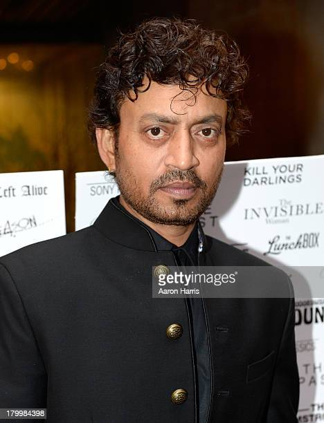 Actor Irrfan Khan attends the Sony Pictures Classics' cast dinner during the 2013 Toronto International Film Festival at Creme Brasserie on September...
