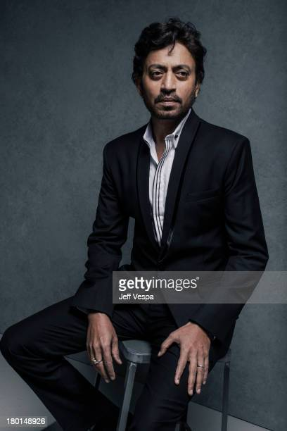 Actor Irrfan Khan is photographed at the Toronto Film Festival on September 7 2013 in Toronto Ontario