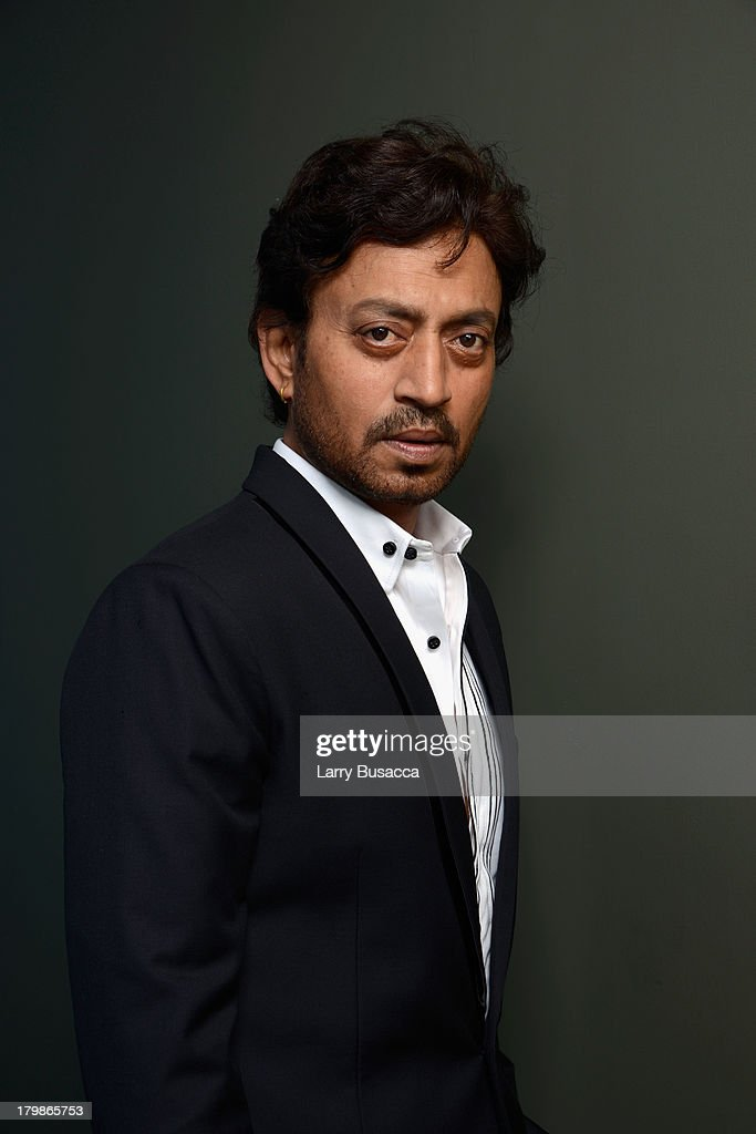 Actor Irrfan Khan of 'The Lunchbox' poses at the Guess Portrait Studio during 2013 Toronto International Film Festival on September 7, 2013 in Toronto, Canada.