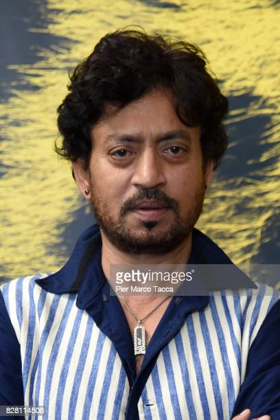 Actor Irrfan Khan poses during the 'The Song of Scorpions' photocall at the 70th Locarno Film Festival on August 9 2017 in Locarno Switzerland