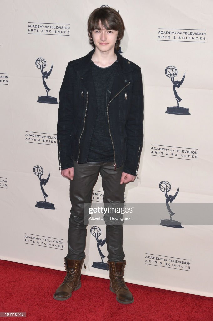 Actor Isaac Hempstead Wright attends The Academy of Television Arts & Sciences' Presents An Evening With 'Game of Thrones' at TCL Chinese Theatre on March 19, 2013 in Hollywood, California.