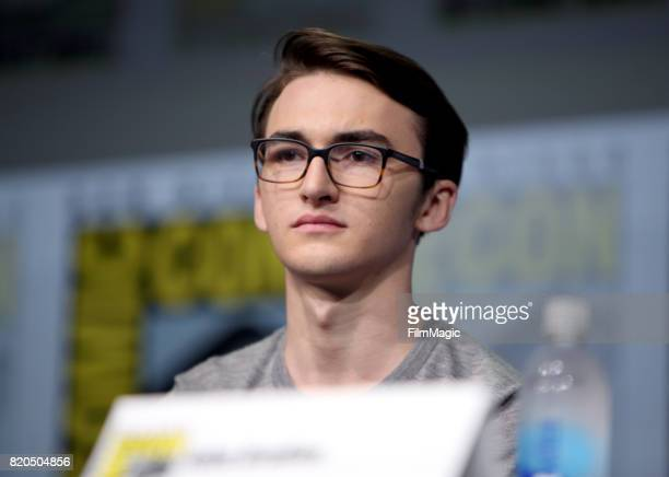 Actor Isaac Hempstead Wright speaks at the 'Game of Thrones' panel with HBO at San Diego ComicCon International 2017 at San Diego Convention Center...