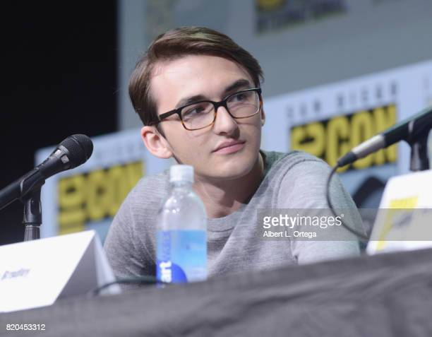 Actor Isaac Hempstead Wright speaks onstage at ComicCon International 2017 'Game Of Thrones' panel And QA Session at San Diego Convention Center on...