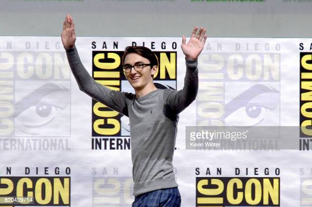 Actor Isaac Hempstead Wright walks onstage at ComicCon International 2017 'Game Of Thrones' panel And QA Session at San Diego Convention Center on...