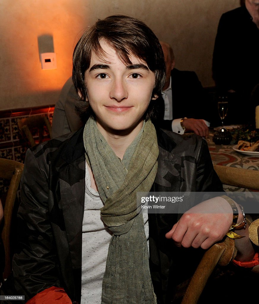 Actor Isaac Hempstead-Wright poses at the after party for the premiere of HBO's 'Game Of Thrones' at the Roosevelt Hotel on March 18, 2013 in Los Angeles, California.