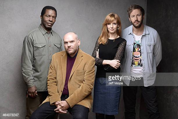 Actor Isaach De Bankole filmmaker John Michael McDonagh and actors Kelly Reilly and Chris O'Dowd pose for a portrait during the 2014 Sundance Film...