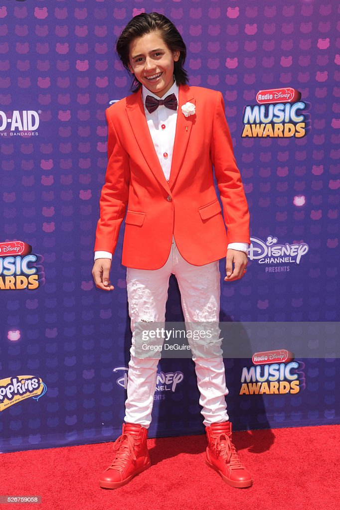 Actor Isaak Presley arrives at the 2016 Radio Disney Music Awards at Microsoft Theater on April 30, 2016 in Los Angeles, California.