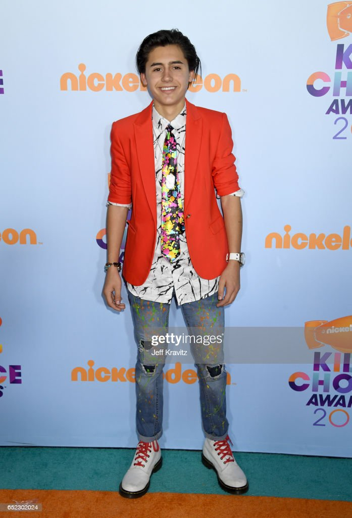 Actor Isaak Presley at Nickelodeon's 2017 Kids' Choice Awards at USC Galen Center on March 11, 2017 in Los Angeles, California.