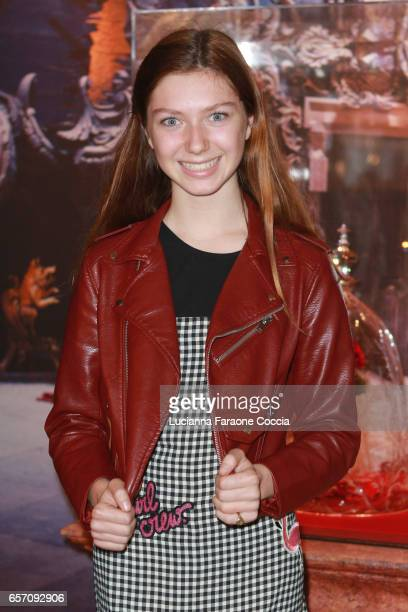Actor Isabella BlakeThomas attends Red Walk special screening of Disney's 'Beauty And The Beast' at El Capitan Theatre on March 23 2017 in Los...