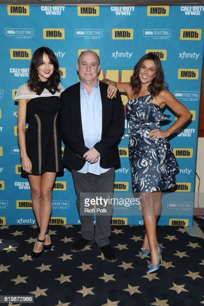 Actor Isabelle Cornish writer Jeph Loeb and actor Serinda Swan at the #IMDboat At San Diego ComicCon 2017 at The IMDb Yacht on July 20 2017 in San...