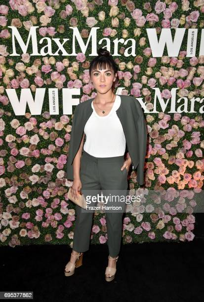 Actor Isabelle Fuhrman wearing Max Mara at Max Mara Celebrates Zoey Deutch The 2017 Women In Film Max Mara Face of the Future at Chateau Marmont on...