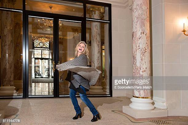 Actor Isabelle Nanty is photographed for Paris Match on January 28 2016 in Paris France