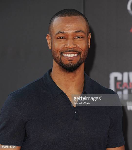 Actor Isaiah Mustafa attends the premiere of 'Captain America Civil War' at Dolby Theatre on April 12 2016 in Hollywood California