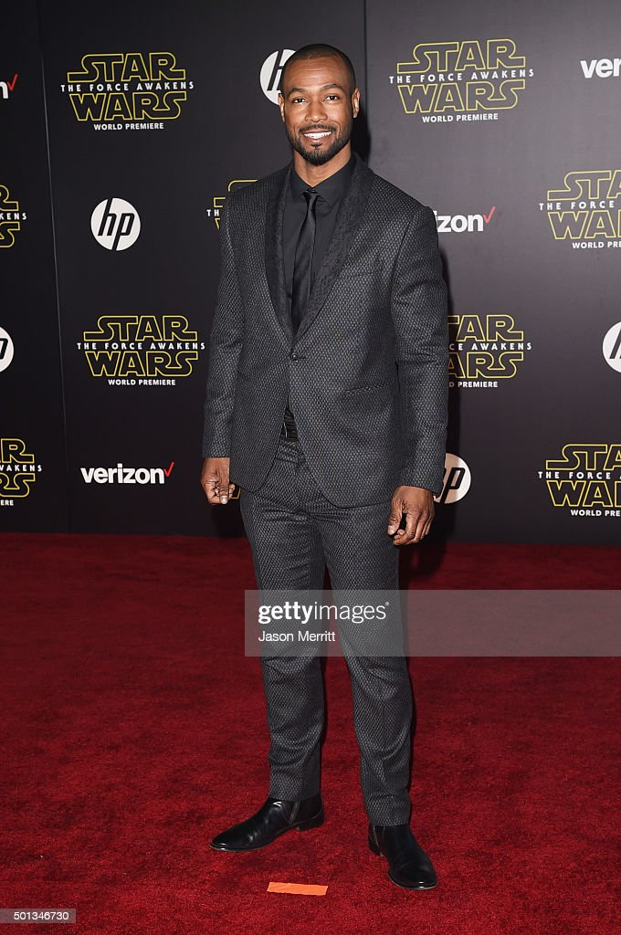 Actor Isaiah Mustafa attends the premiere of Walt Disney Pictures and Lucasfilm's 'Star Wars The Force Awakens' at the Dolby Theatre on December 14th...
