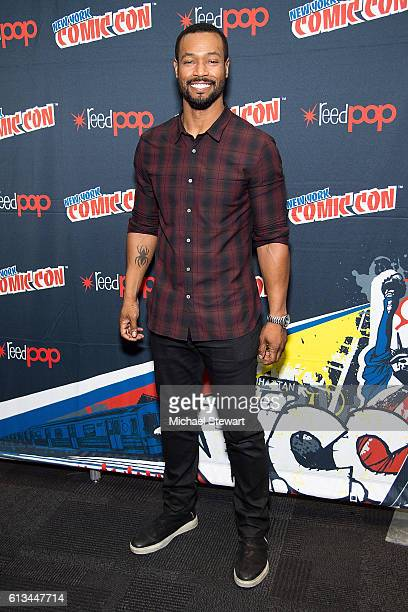 Actor Isaiah Mustafa attends the Shadowhunters Season 2 QA press room during 2016 New York Comic Con at the Jacob Javitz Center on October 8 2016 in...
