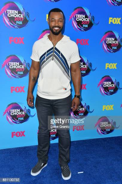 Actor Isaiah Mustafa attends the Teen Choice Awards 2017 at Galen Center on August 13 2017 in Los Angeles California