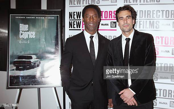 Actor Isaiah Washington and director Alexandre Moors attend the New Directors/New Films 2013 Opening Night screening of 'Blue Caprice' at the Museum...