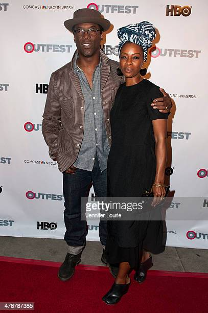 Actor Isaiah Washington and Jenisa Garland attend Outfest Fusion's LGBT People Of Color Film Festival's opening night screening of 'Blackbird' hosted...