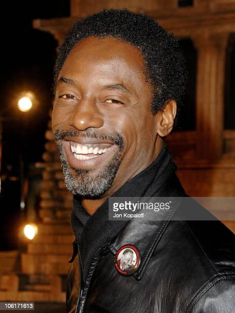 Actor Isaiah Washington arrives at the Los Angeles Premiere 'Cloverfield' at Paramount Studios on January 16 2008 in Los Angeles California