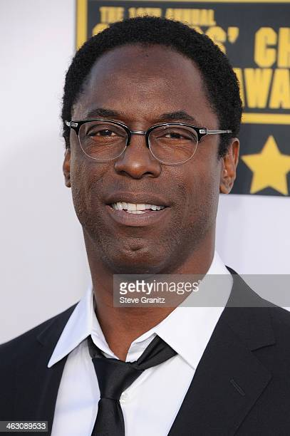 Actor Isaiah Washington attends the 19th Annual Critics' Choice Movie Awards at Barker Hangar on January 16 2014 in Santa Monica California