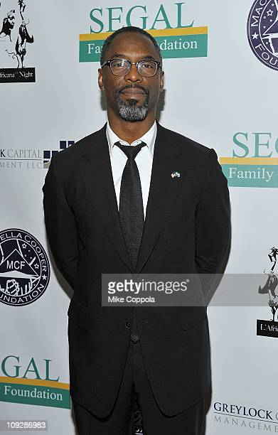 Actor Isaiah Washington attends the L'Africana Night Fashion Week finale party at the New York Society for Ethical Culture Concert Hall on February...