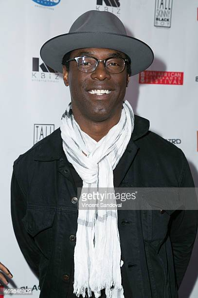 Actor Isaiah Washington attends the Pan African Film Arts Festival closing night premiere of 'Blackbird' at Rave Cinemas on February 16 2014 in Los...