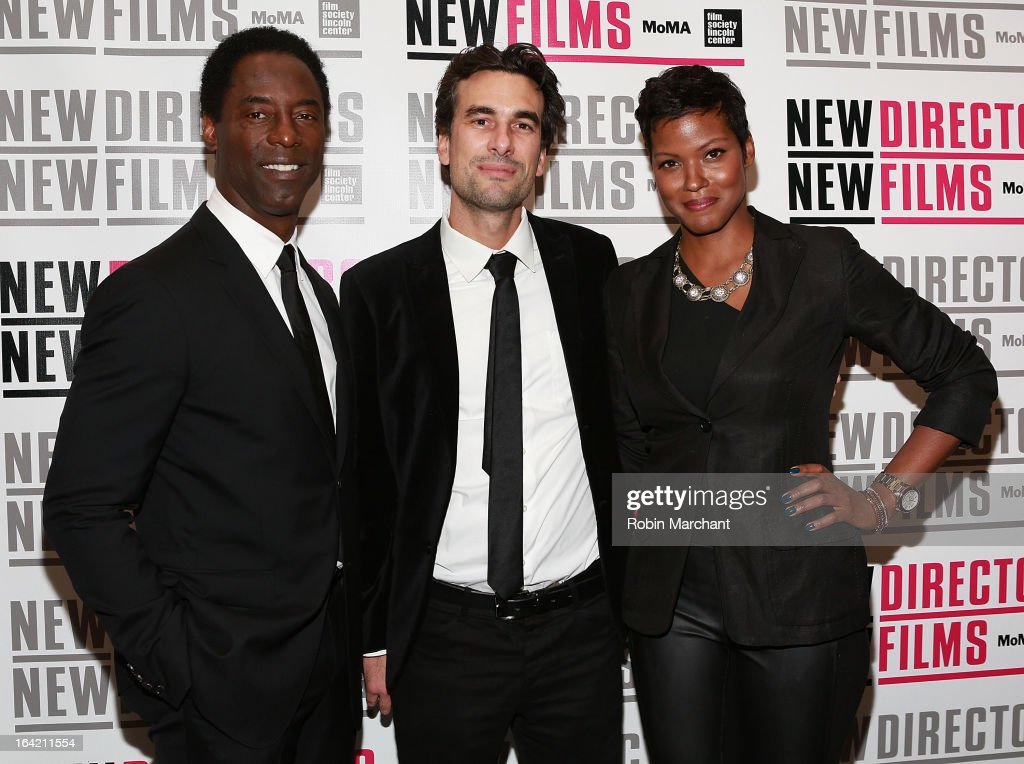Actor <a gi-track='captionPersonalityLinkClicked' href=/galleries/search?phrase=Isaiah+Washington&family=editorial&specificpeople=652980 ng-click='$event.stopPropagation()'>Isaiah Washington</a>, Director Alexandre Moors and Actress Cassandra Freeman attend the New Directors/New Films 2013 Opening Night screening of 'Blue Caprice' at the Museum of Modern Art on March 20, 2013 in New York City.