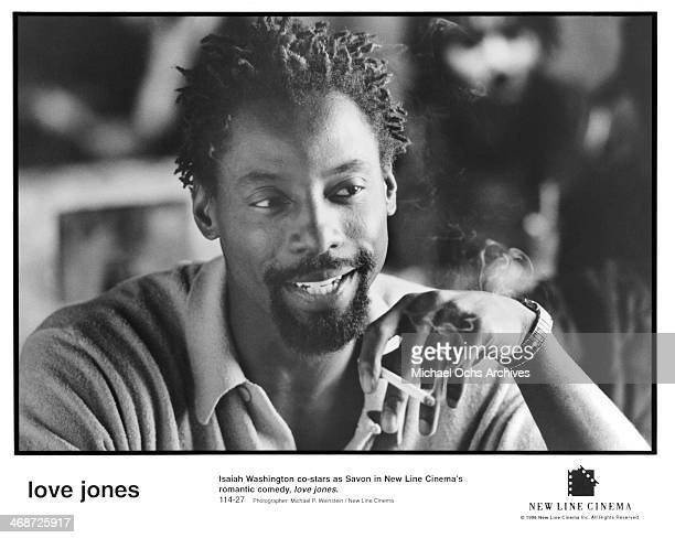 Actor Isaiah Washington on set of the New Line Cinema movie ' Love Jones' circa 1997