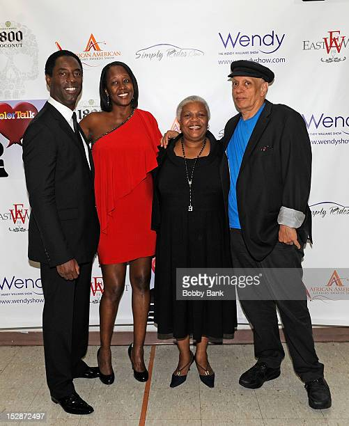 Actor Isaiah Washington Yvette Hayward Marva Allen and Walter Mosley attends the 8th annual African American Literary Awards at Melba's Harlem on...