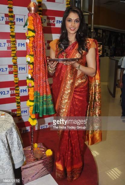 Actor Isha Koppikar performs puja on the occassion of Gudi Padwa