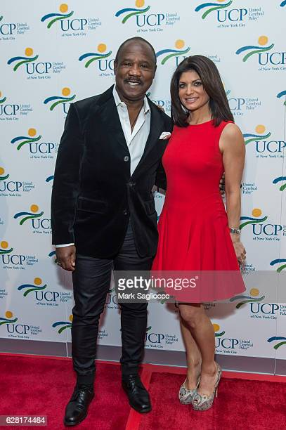 Actor Isiah Whitlock Jr and PIX 11 News Anchor and UCP Host Tamsen Fadal attend the 7th Annual UCP Of NYC Santa Project Party Auction at The Down...