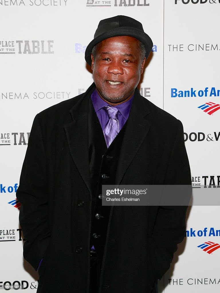 Actor Isiah Whitlock Jr. arrives at Bank of America and Food & Wine with The Cinema Society present a screening of 'A Place at the Table' at the Celeste Bartos Theater at the Museum of Modern Art on February 27, 2013 in New York City.