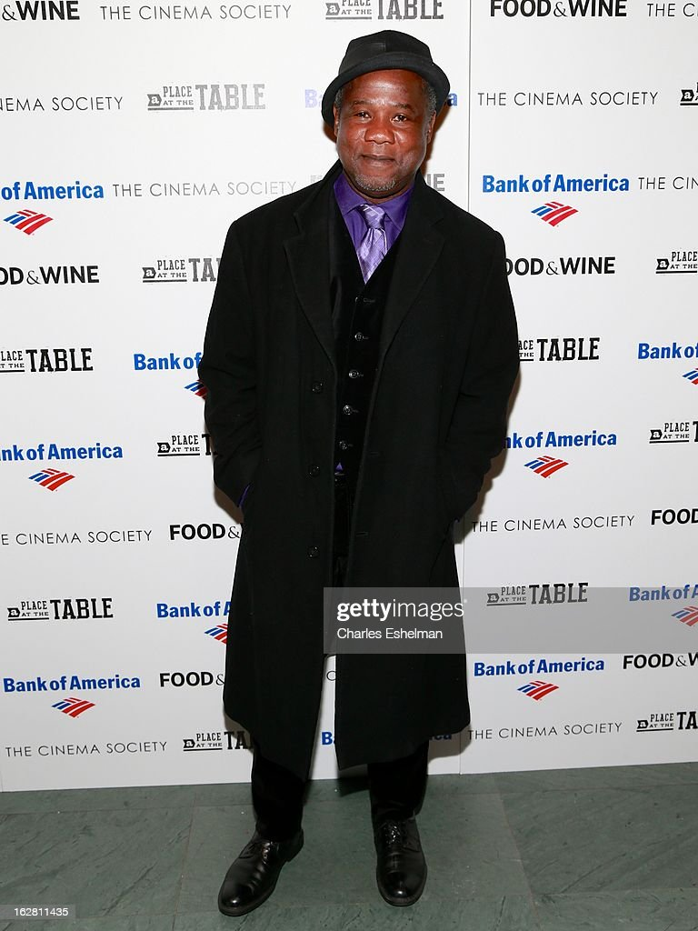 Actor <a gi-track='captionPersonalityLinkClicked' href=/galleries/search?phrase=Isiah+Whitlock+Jr.&family=editorial&specificpeople=657646 ng-click='$event.stopPropagation()'>Isiah Whitlock Jr.</a> arrives at Bank of America and Food & Wine with The Cinema Society present a screening of 'A Place at the Table' at the Celeste Bartos Theater at the Museum of Modern Art on February 27, 2013 in New York City.