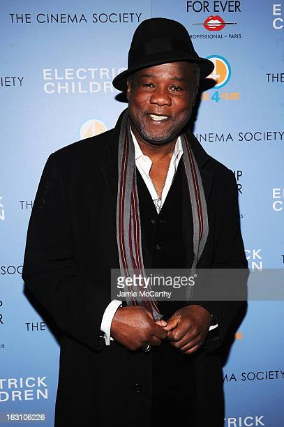 Actor Isiah Whitlock Jr attends The Cinema Society Make Up For Ever screening of 'Electrick Children' at IFC Center on March 4 2013 in New York City