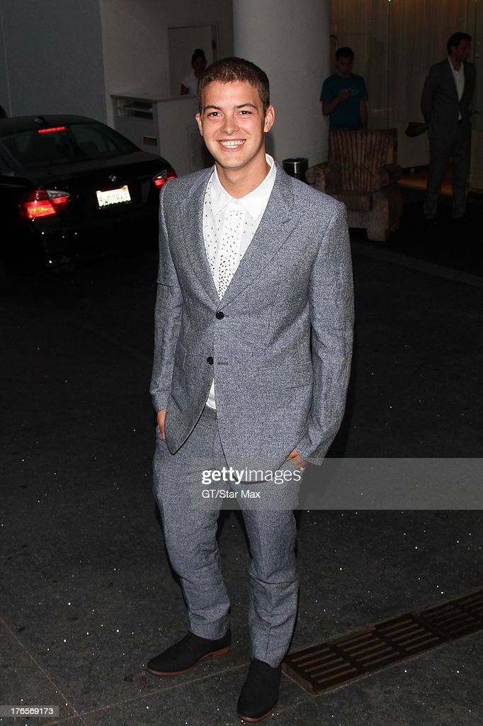 Actor Israel Broussard as seen on August 14, 2013 in Los Angeles, California.